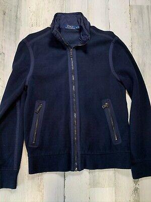 Polo Ralph Lauren Blue Jacket Men's Small Full Zip Cotton