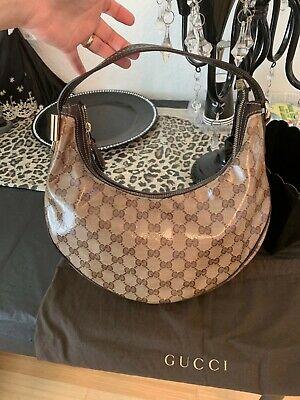 Gucci Crystal Coated Small Guccissima GG Logo Bag