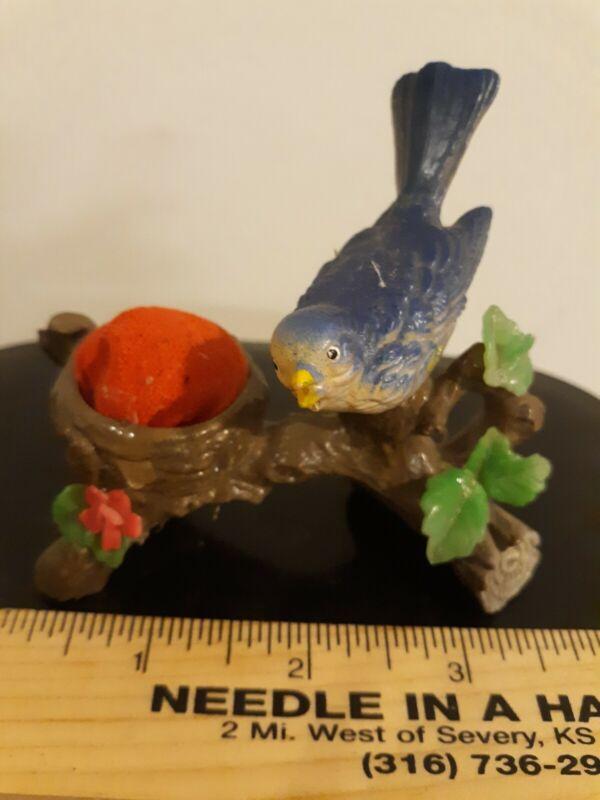 VINTAGE Blue Bird Plastic Celluloid Pin Cushion