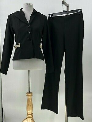suits us 2 piece blazer pant suit bow detail on blazer size 5/6