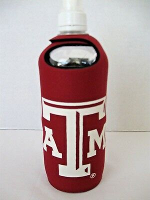 TEXAS A&M AGGIES Water Bottle Koozie Holder NWT Licensed ()