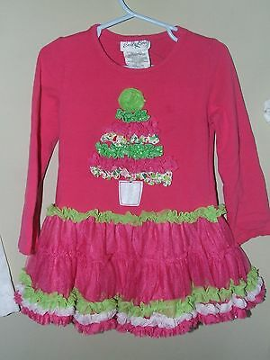 mas Tutu Dress Pink Green Tunic Tree Polka Dot Boutique  (Chirstmas Mädchen)