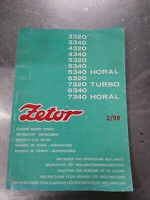 Zetor 3320 3340 4320 4340 5320 5340 6320 7320 7340 6340 Tractor flat rate Manual na sprzedaż  Wysyłka do Poland