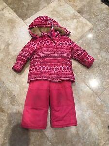 Snow suit, girls size 2T