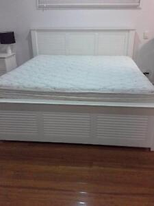 White King size bed and Mattress in excellent condition Stafford Brisbane North West Preview