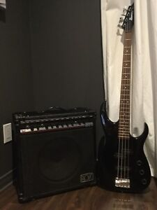 Bass Ibanez x series et ampli Ross RGT 30