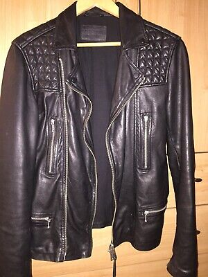 all saints leather jacket, Size Small