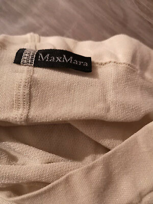 NEW Max Mara Wool White fashion tights  MM logo shiny size M White Wool Tights