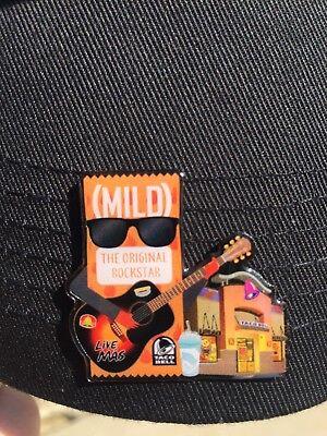 Rare Taco Bell Mild Sauce Fire Hat Tie Lapel Pin Live Mas Diablo