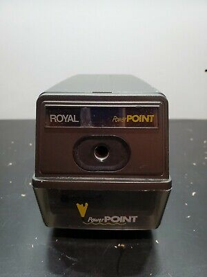 Royal Power Point Electric Pencil Sharpener Automatic Stop For Home Office