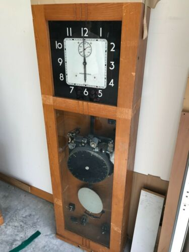 International Business Machines Wooden Case Art Deco Master Clock
