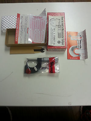 Starrett 569map Tube Micrometer 0-25mm Range .01mm Grad Edp 52594