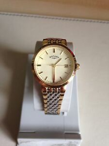 Rotary Ladies' Two-Tone Quartz Bracelet Champagne Dial Watch