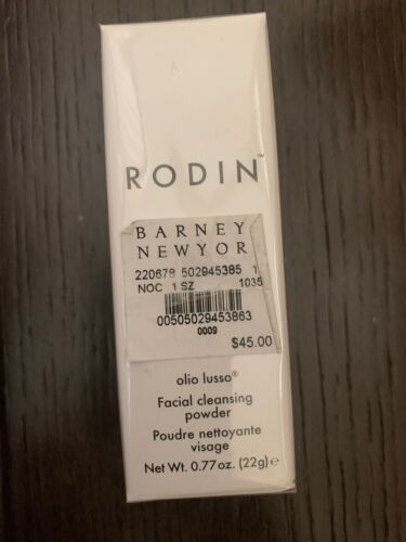 RODIN OLIO LUSSO FACIAL CLEANSING POWDER Full Size 0.77 Oz / 22g 45 Sealed - $33.00