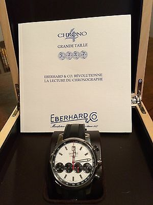 Eberhard & Co  Chrono 4 Grand Taille Chronograph Papers Warranty CU 31052