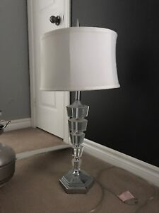 Lamp with white shade $20