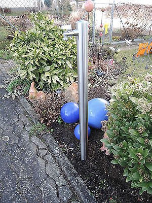 Wasserzapfstelle Edelstahl Wasserzapfsäule Ø60mm 1m Wasserverteiler Brunnen