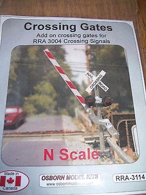 Osborn Model Kits N Scale Crossing Gates Add On    Rra 3114  Bob The Train Guy