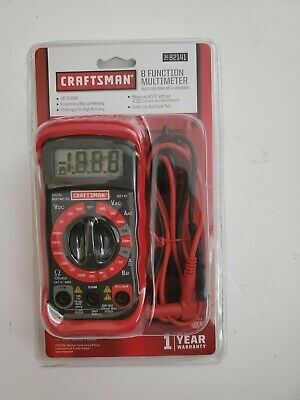 New Craftsman 34-82141 8 Function Multimeter