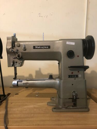 Nakajima 380B Cylinder Arm Sewing Machine; great for bags and hats