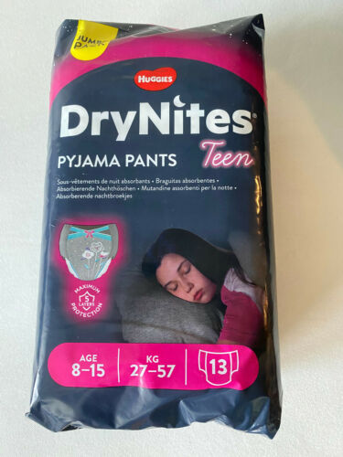 Huggies DryNites Teen Girls Age 8-15 Pack of 13 - New Package - Ships from USA