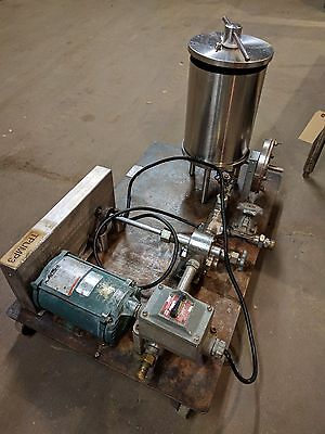 Ertel Stainless Steel Portable Transfer Pump And Filters Former Cosmetic Use.