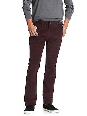 Banana Republic Mens Purple Vintage Straight Leg Corduroy Pant 34 35 Waist Nwt