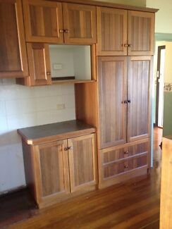 Kitchen cupboards jarrah