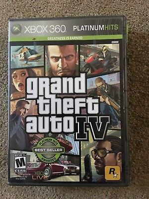 XBOX360 GRAND THEFT AUTO FOUR 4 VIDEO GAME PLATINUM HITS for sale  Shipping to India