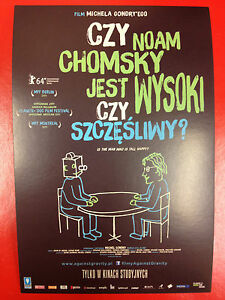Noam Chomsky Michael Gondry - Is the Man Who Is Tall Happy? - Polish promo FLYER - <span itemprop=availableAtOrFrom>Gdynia, Polska</span> - Noam Chomsky Michael Gondry - Is the Man Who Is Tall Happy? - Polish promo FLYER - Gdynia, Polska