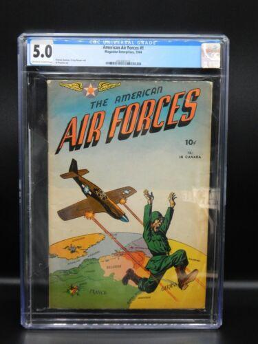 CGC 5.0 Magazine Enterprises AMERICAN AIR FORCES #1 Golden age WWII Military ga