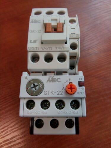 Original LS GMC-22 Contactor 11kW 22A Coil AC230V + Overload Relay GTK-22(4-6)A