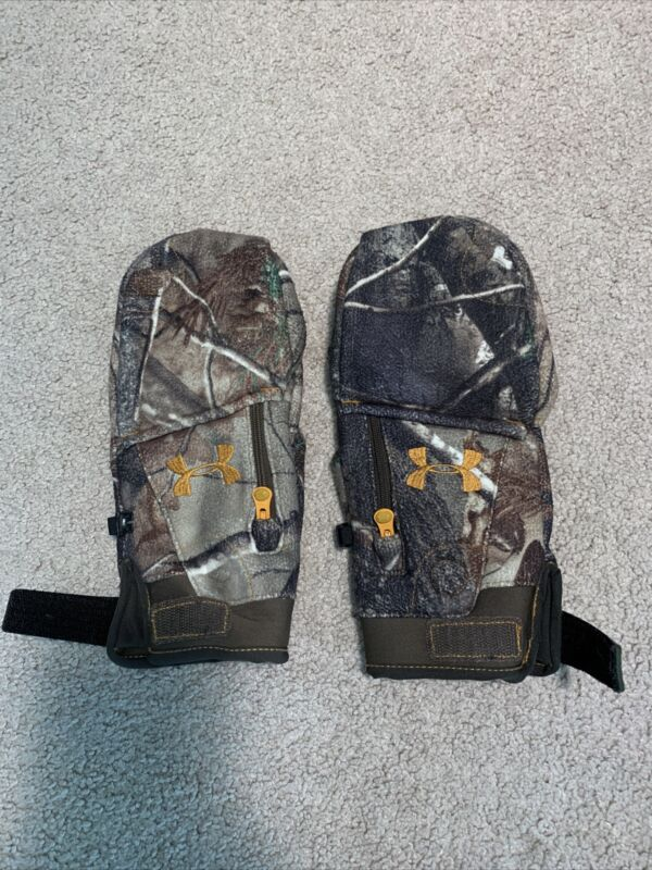 Under Armour Coldgear Camo Flip Mittens Realtree Gloves Large