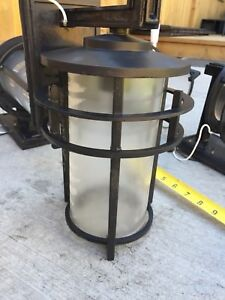 4 Outdoor / Exterior Lighting   Black Metal