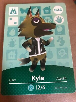 animal crossing amiibo cards Kyle [never used]