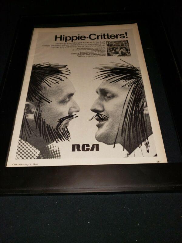 Homer And Jethro Rare Original  RCA Records Promo Poster Ad Framed! #2