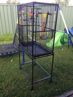 Cage for parrot on wheels with toys and feeder Armadale Armadale Area Preview