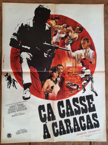 Poster Ca Off A Caracas Marcello Baldi Horst Frank Pascale Audret