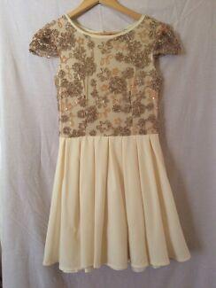 Gold semi-formal dress size S  Sandgate Brisbane North East Preview