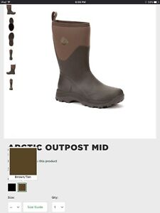 Size 7 arctic outpost mid muck boots