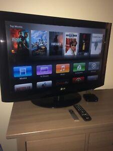 "32"" LG flat screen TV with Apple TV"