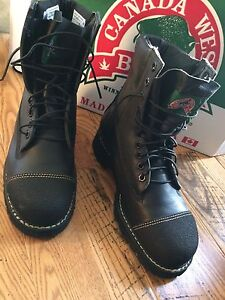 NEW MENS CANADA WEST LEATHER WORK BOOTS