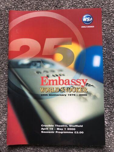 Embassy World Snooker Souvenir Programme 2000.