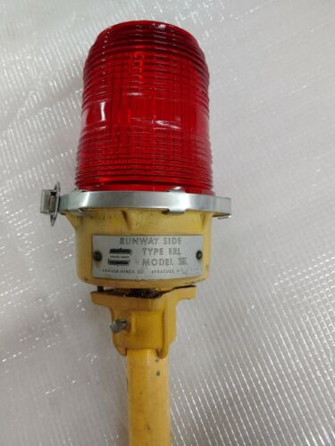 Airport Red Fresnel Glass Taxiway/clearance Lights w/o base