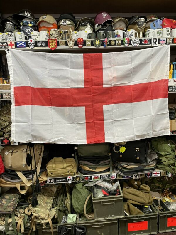 ST GEORGES FLAG!! 5x3FT!! DURABLE POLY-NYLON!!