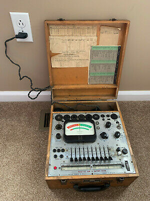 Vintage Precision Electron Tube Tester Model 612 - Powers On In Good Condition