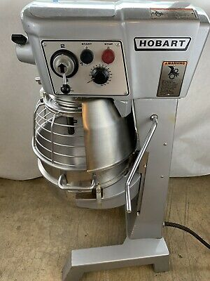 Hobart 30 Qt D300t Mixer W Bowl Guard 3 Phase 34hp Ss Bowl And Attachments