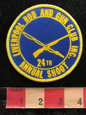 Vtg 24th Shoot NY LIVERPOOL ROD & GUN CLUB Patch Gun Firearm / Ammo Related 83E1
