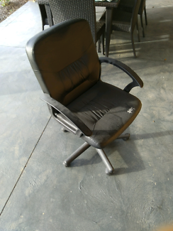 Perfect office chair except worn towards left side