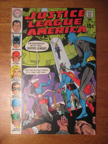 JUSTICE LEAGUE OF AMERICA #78, 1970 (FN+/VF-) 1st Vigilante, JLA Satellite!